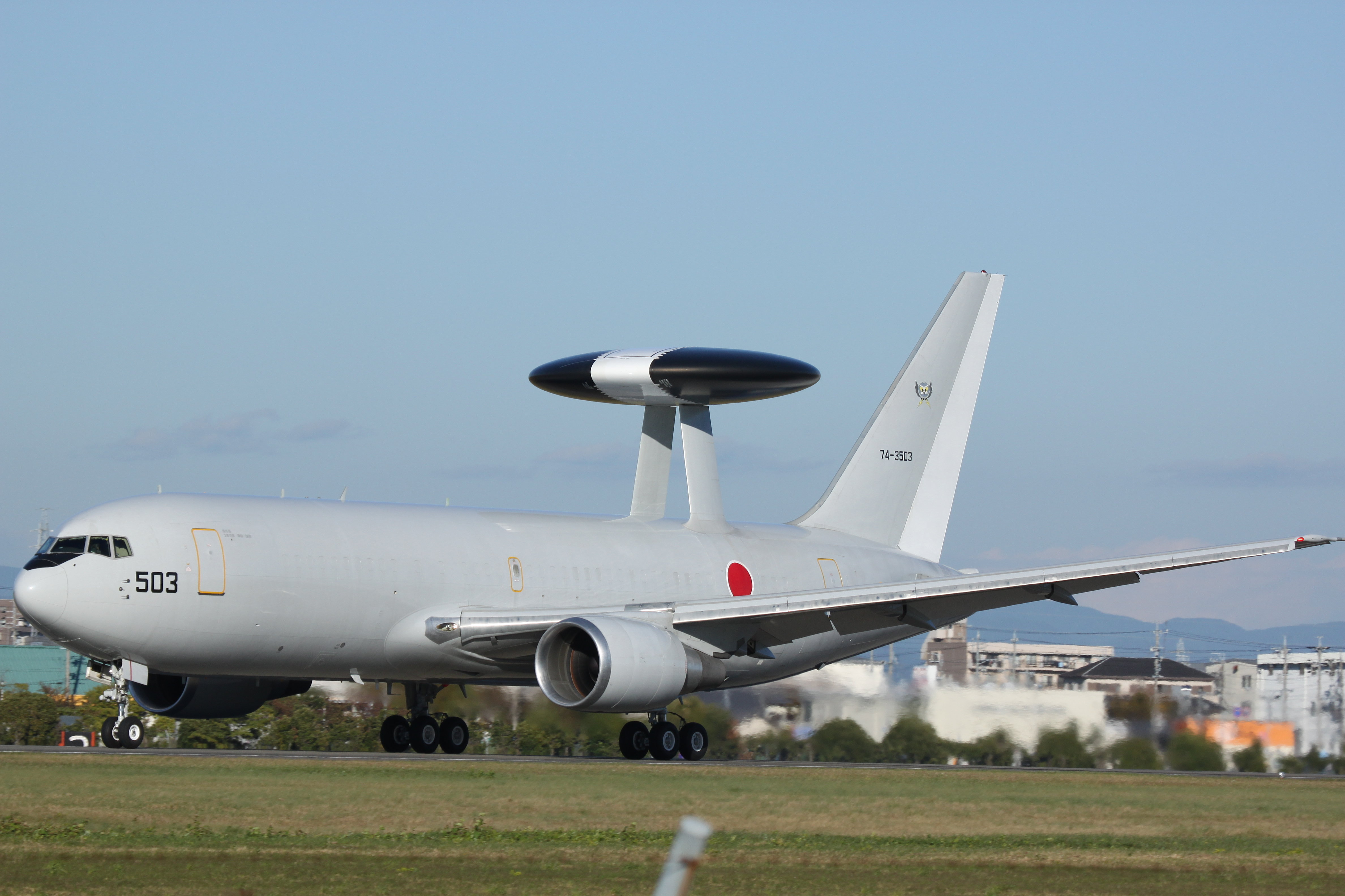Boeing E-767 AWACS aircraft belonging to the JASDF