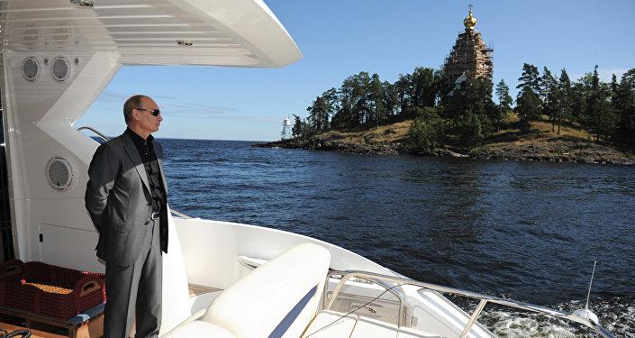 Vladimir Putin visits Valaam Monastery