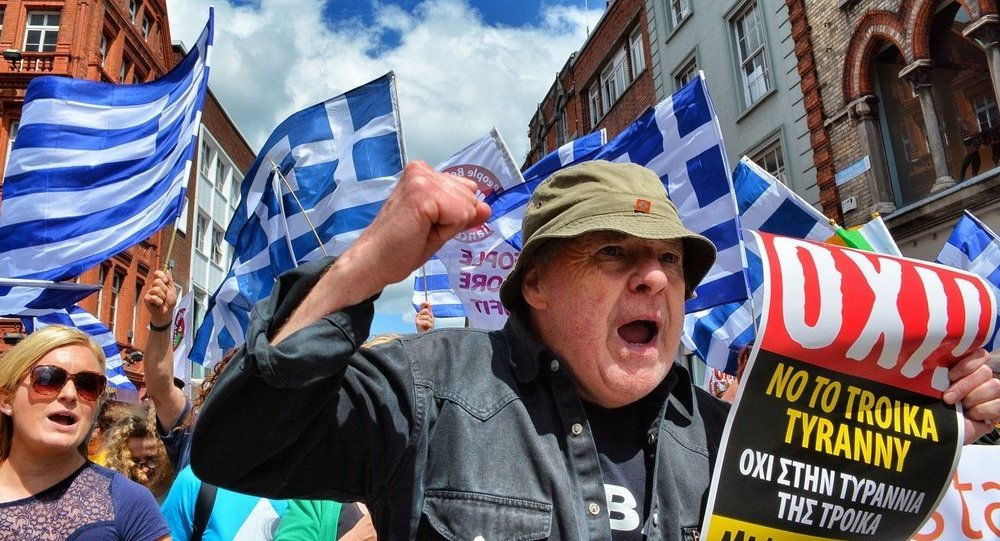 Greek anti-austerity protesters