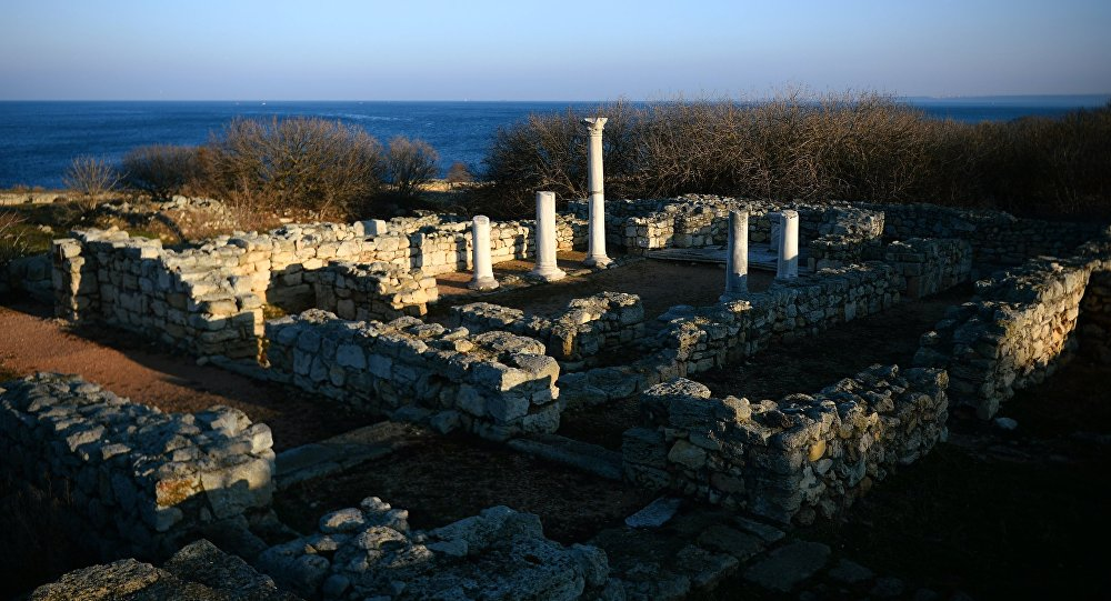 The ruins of the ancient city of Chersonesus, part of the national reserve Tauric Chersonese