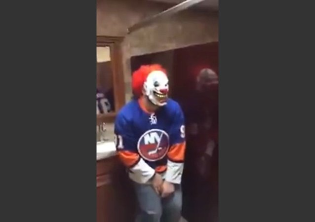 Bathroom Clown Mask Scare Prank