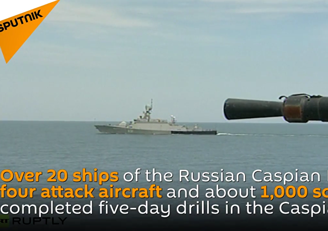 Military Drills in Caspian Sea