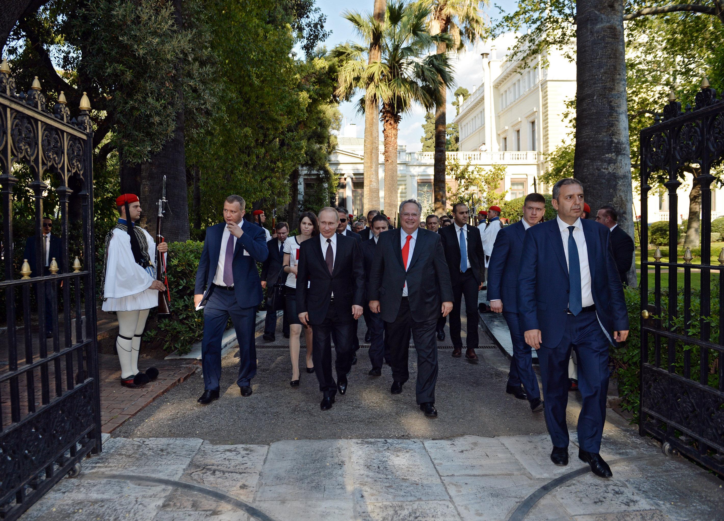 President Vladimir Putin visits Greece