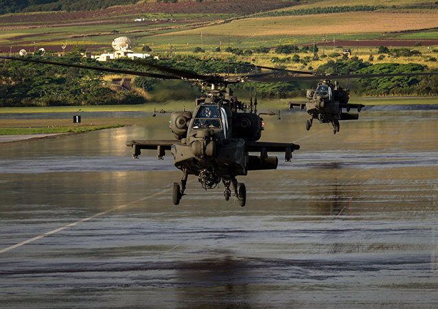 Aircrews, from 16th Combat Aviation Brigade and their AH-64E Apache Guardians