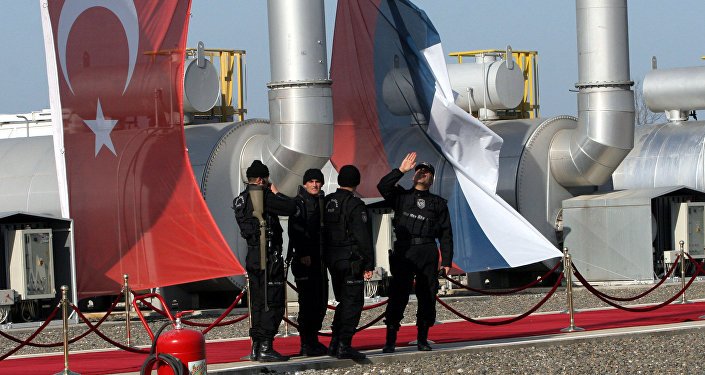 Turkish security special force members check the area at the pumping station in the village of Durusu, near the northern Turkish city of Samsun (File)