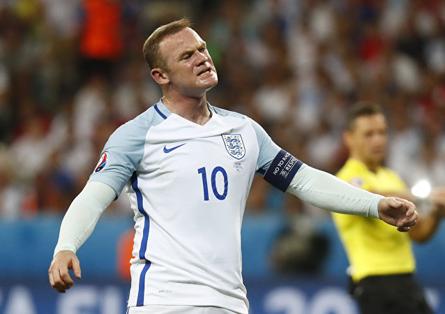Football Soccer - England v Iceland - EURO 2016 - Round of 16 - Stade de Nice, Nice, France - 27/6/16 England's Wayne Rooney reacts