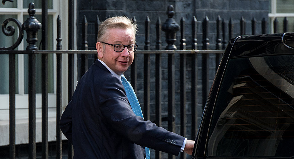 Michael Gove arrives in Downing Street in London on July 12, 2016.