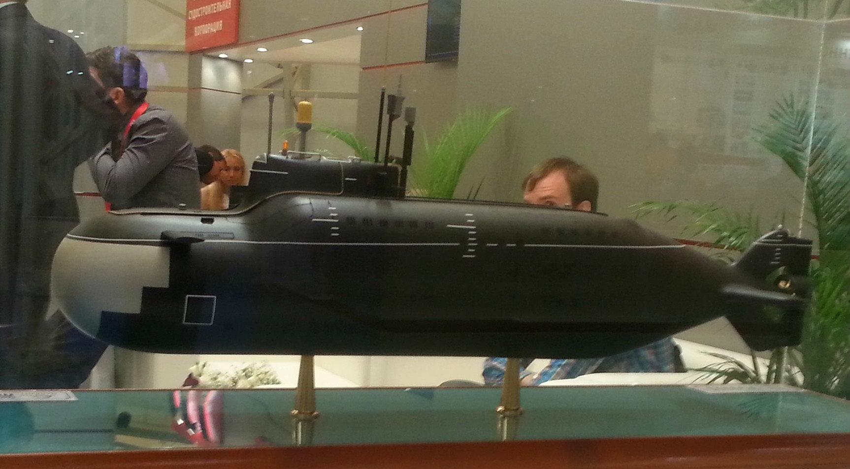 A Piranha submarine model