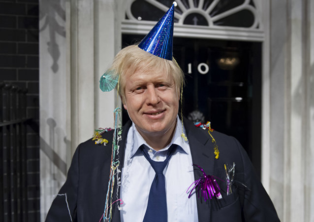 A wax figure of Boris Johnson outside a makeshift No. 10 Downing Street. The Foreign Secretary will be called up to deputise for Prime Minister Theresa May while she is away on holidays.