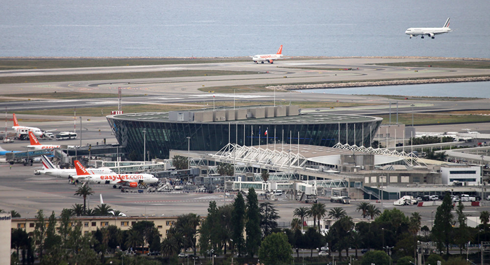 View of the Nice Cote d'Azur Airport, southeastern France