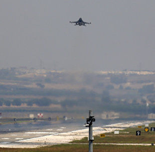 A Turkish Air Force warplane takes off from the Incirlik Air Base, in the outskirts of the city of Adana, southeastern Turkey