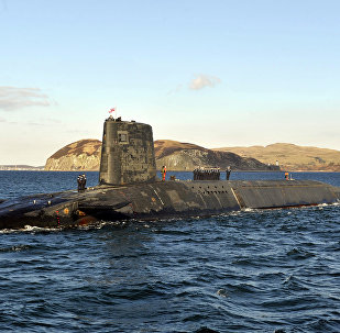 Trident Nuclear Submarine, HMS Victorious, on patrol off the west coast of Scotland
