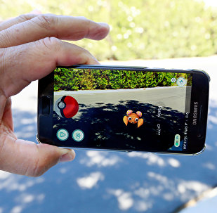 The augmented reality mobile game Pokemon Go by Nintendo is shown on a smartphone screen in this photo illustration taken in Palm Springs, California U.S. July 11, 2016