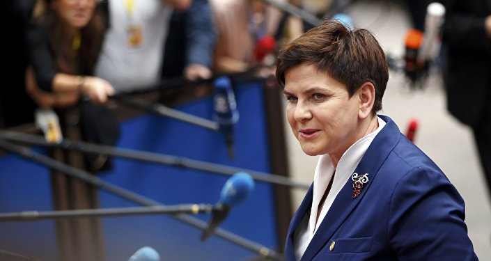 Poland's Prime Minister Beata Szydlo arrives at the EU Summit in Brussels, Belgium, June 28, 2016