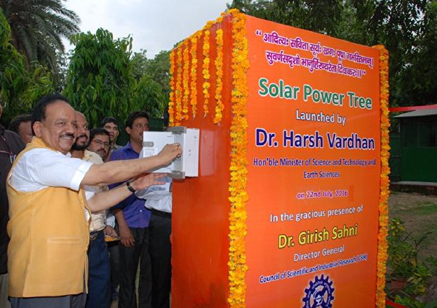 Launch of the 5 KW Solar Power Tree developed by CSIR-CMERI Durgapur in New Delhi