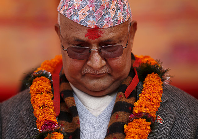 Nepal's Prime Minister Khadga Prasad Sharma Oli, also known as K.P. Oli.