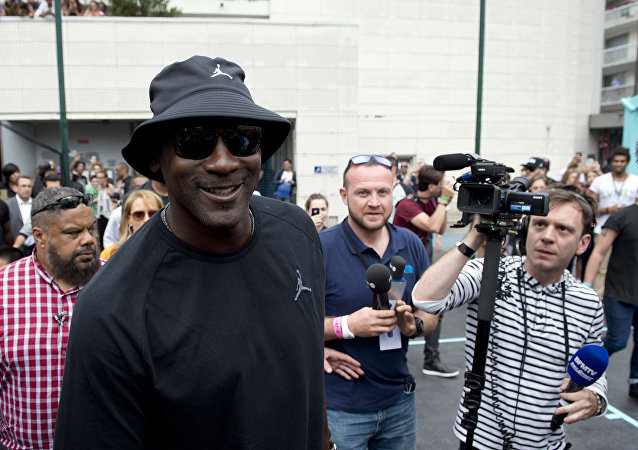 US former basketball player Michael Jordan arrives for the inauguration of a street basketball court in the Haies sports ground in Paris. (File)