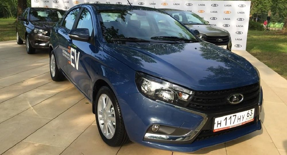 Prototype of the new ‎LADA Vesta EV‬