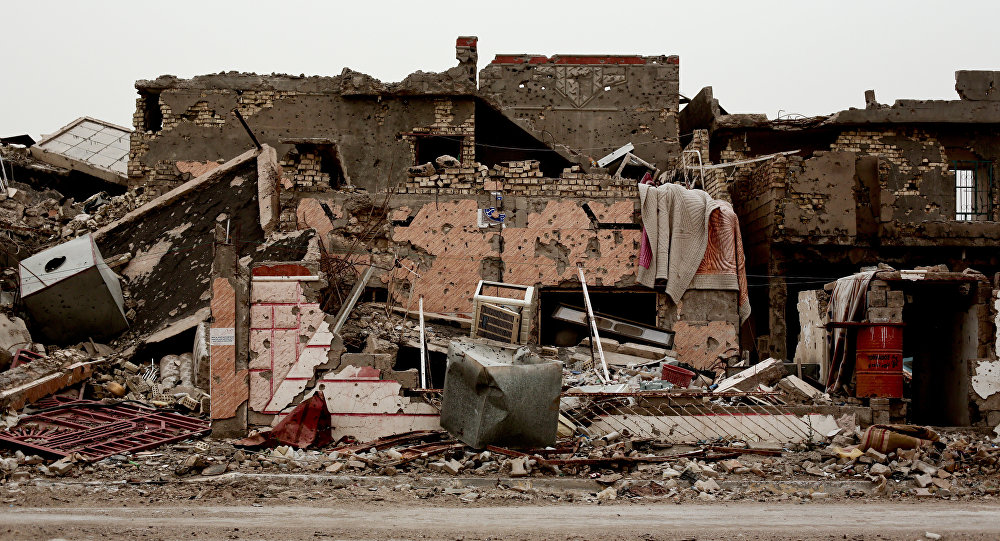 A family house lies in ruins in the Iraqi city of Ramadi (File)