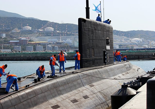 The diesel-electric submarine Novorossiysk has arrived at her basic site at the Novorossiysk naval base