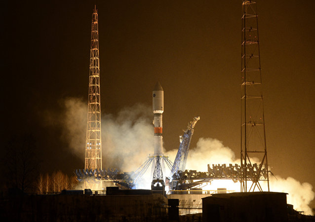 Launch of rocket carrier Soyuz-2.1b