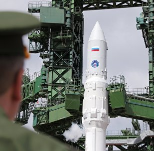The light class Angara-1.2PP space rocket during refueling at Plesetsk. (File)