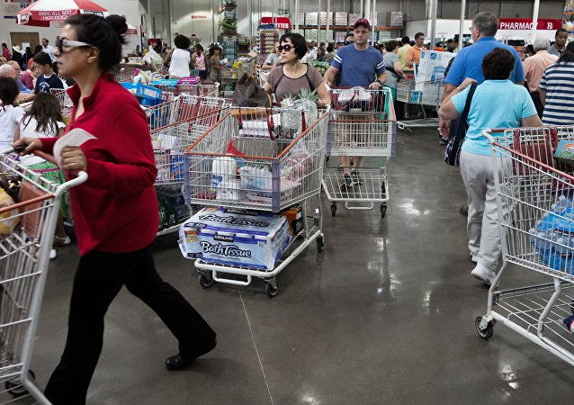 Shoppers at the COSTCO store in Fairfax, Virginia. (File)