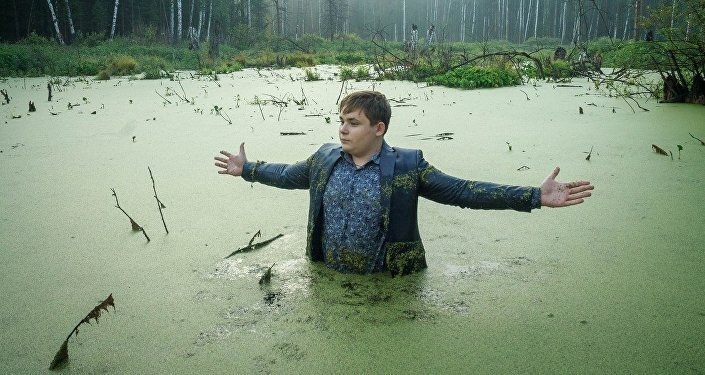 Boy in the swamp