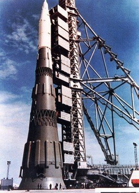 The Soviet N-1 rocket.