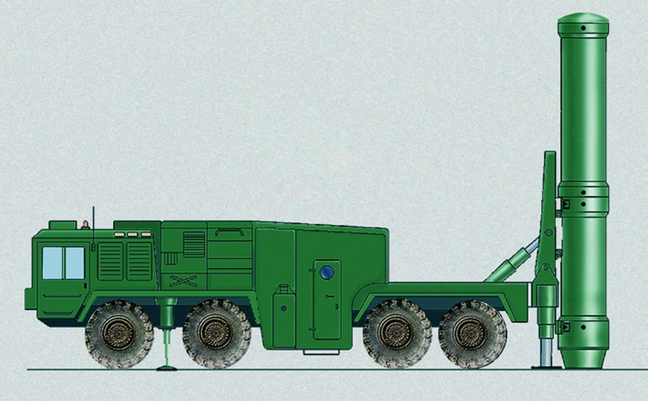 Rendering of a component of the Grom SRBM system
