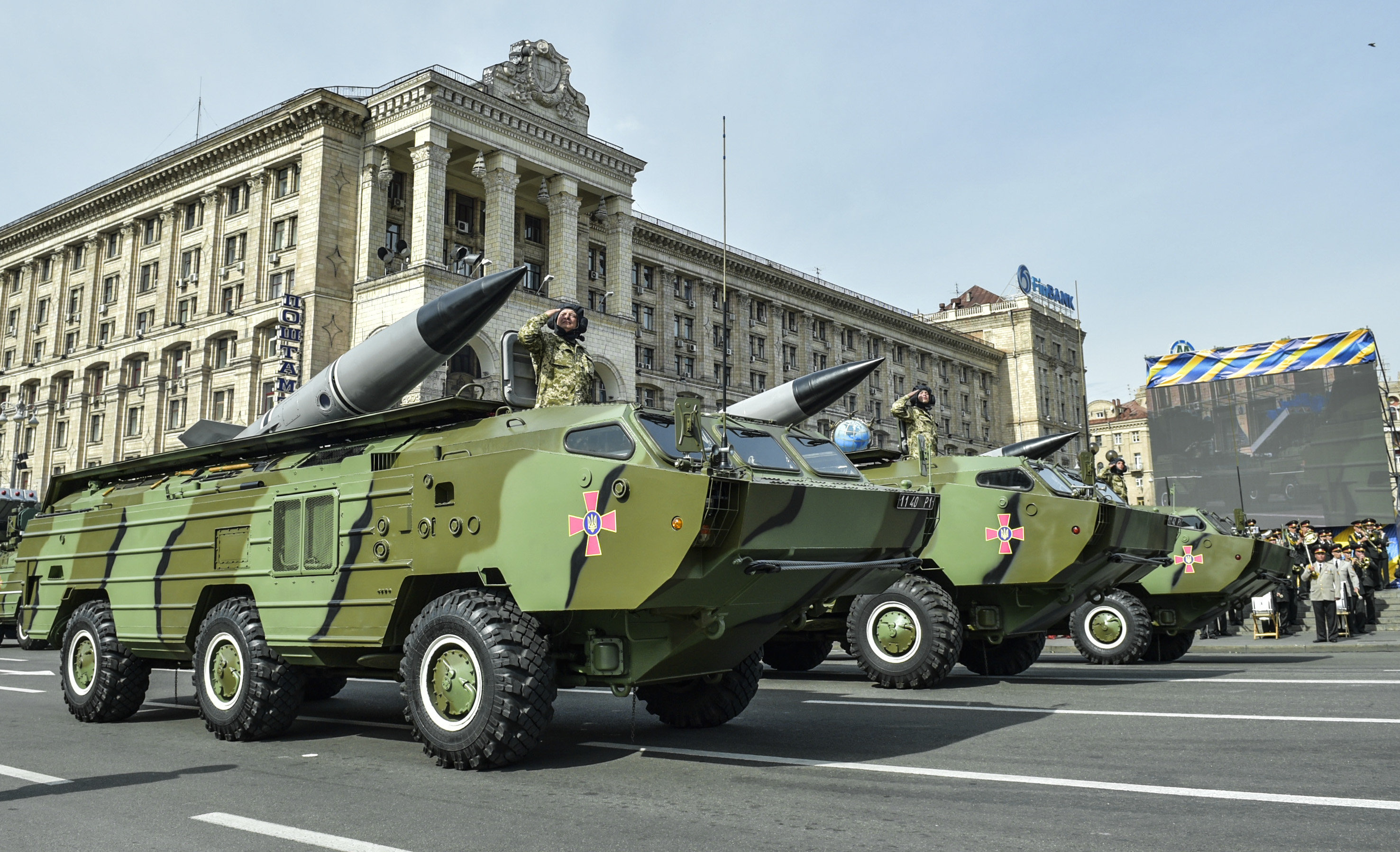 The Soviet-era 9K79 Tochka-U SRBM system, currently the mainstay of the Ukrainian army's missile systems.