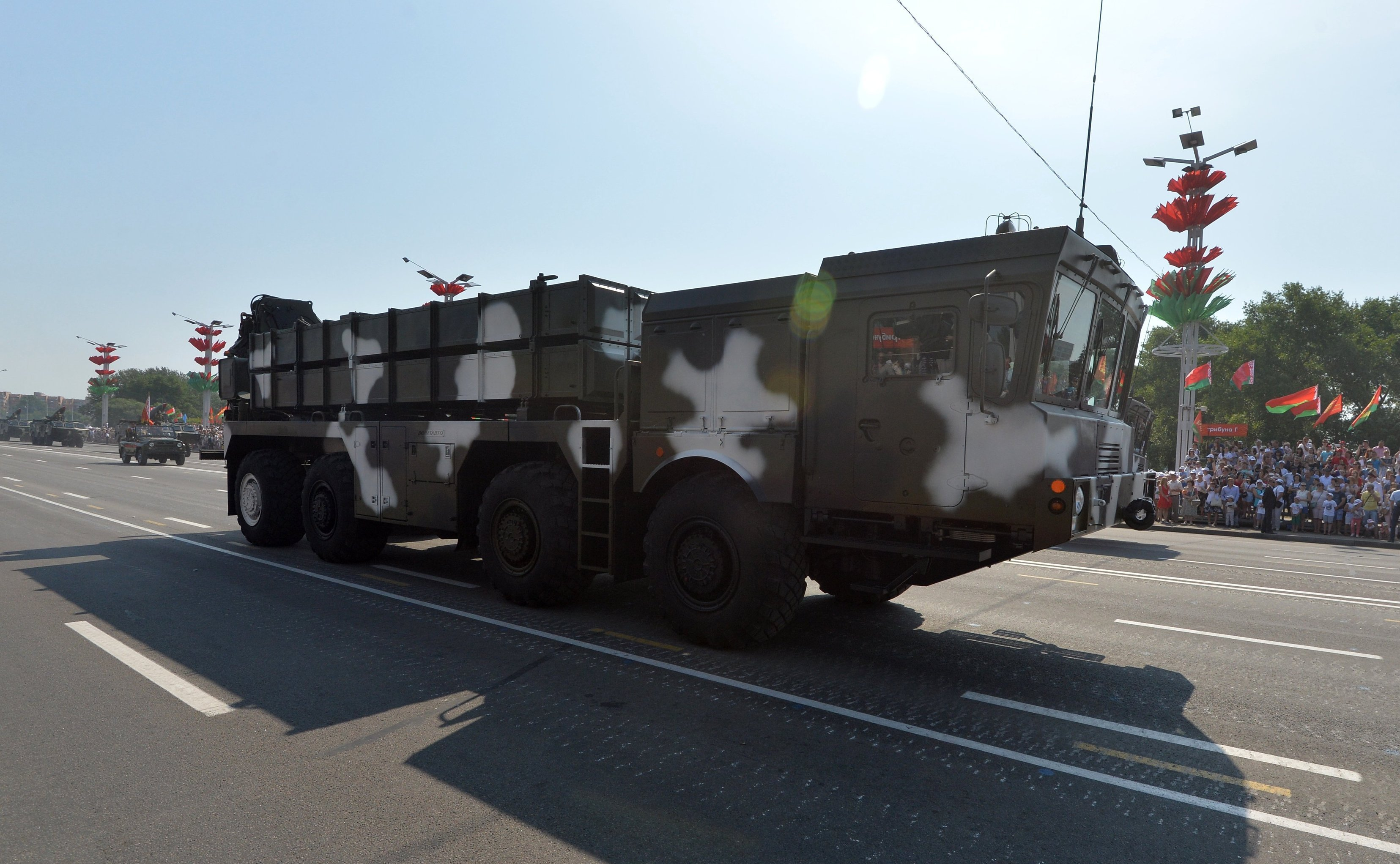Polonez MRLS at the Belarusian Independence Day parade in Minsk.
