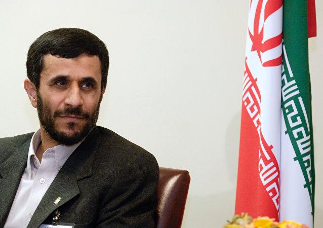 Iran's former President Mahmoud Ahmadinejad in New York City