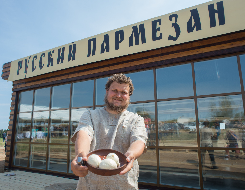 Farmer Oleg Sirota at Russian Parmesan cheese dairy is Moscow Region's Istrinsky district