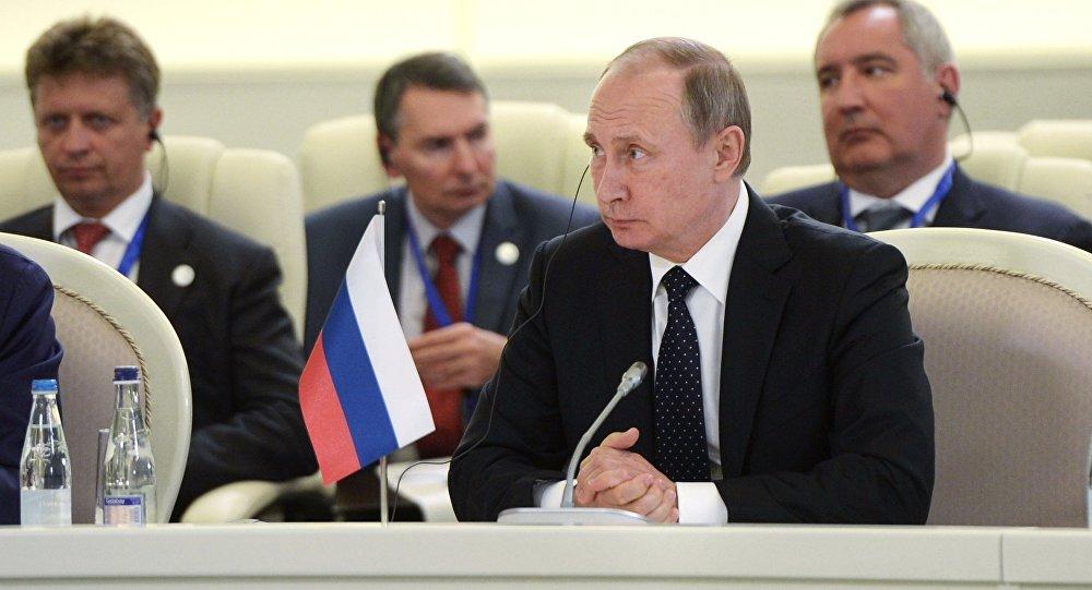 Russian President Vladimir Putin during the summit in Baku.