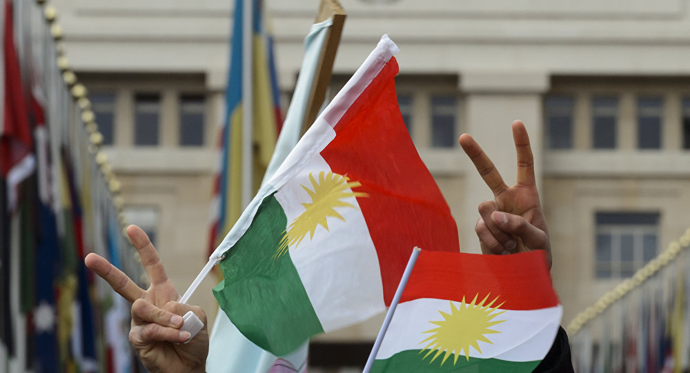 Flags of Kurdistan. (File)