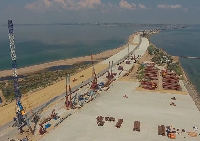 Breathtaking Drone Footage of Crimea Strait Bridge