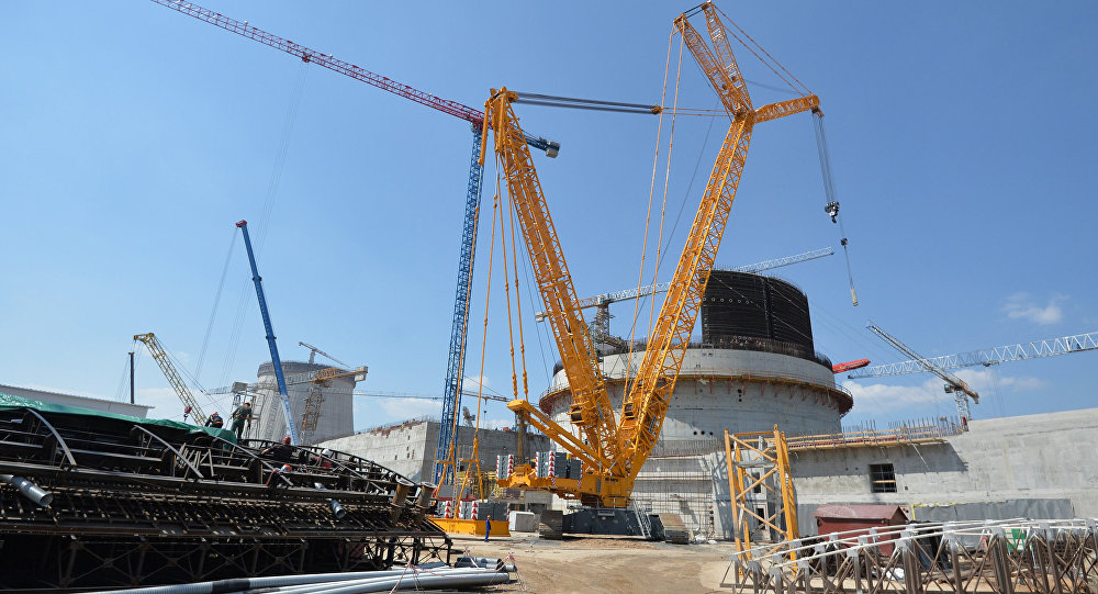 Construction of nuclear power plant in Ostrovets, Belarus