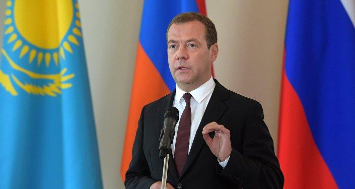 Russian Prime Minister Dmintry Medvedev