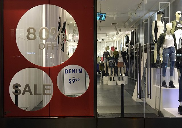 An H&M store has sale signs in the window in New York City, U.S., August 11, 2016. Picture taken August 11, 2016