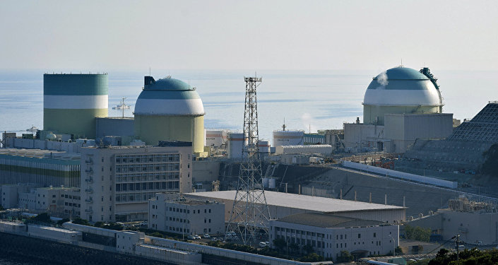 This picture shows the No. 3 reactor (R) at its Ikata nuclear power plant of Shikoku Electric Power in Ehime prefecture, about 700 kilometres (430 miles) southwest of Tokyo on August 12, 2016