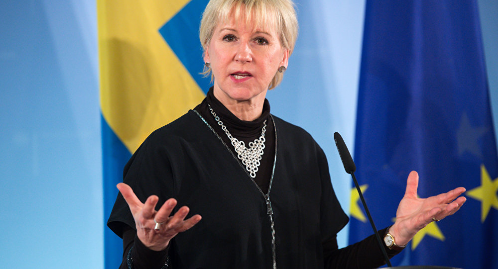 Swedish foreign minister Margot Wallstrom