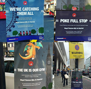 Pokemon Go Home campaign highlighting the impact of Britain's vote to leave the EU