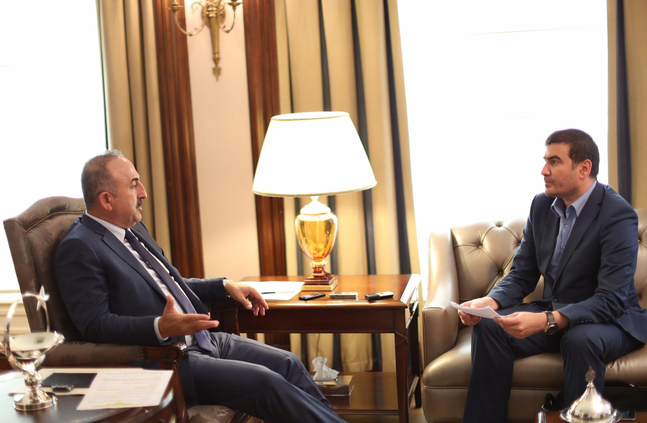 Mevlut Cavusoglu gave an exclusive interview to Sputnik