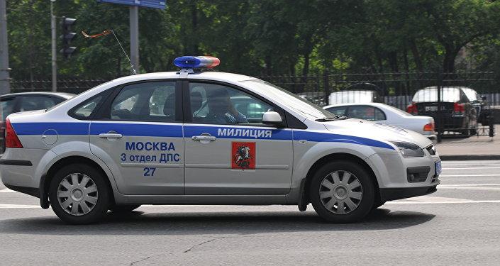 Russian traffic patrol car