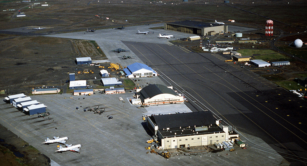 A view of the U.S. Naval Air Station Keflavik, 19 August 1982