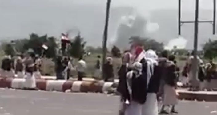 Saudi airstrikes target Houthi rally in Yemen on August 20