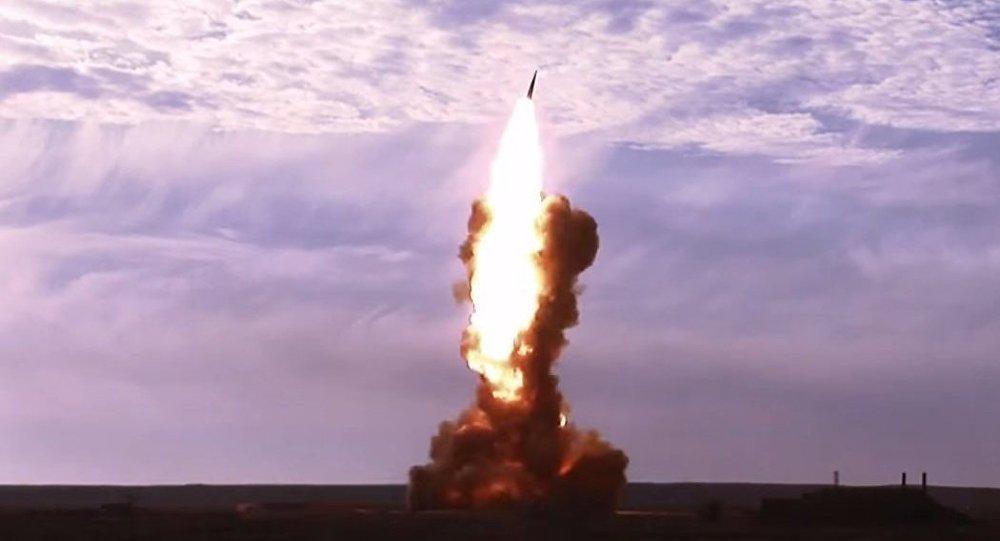 A Russian anti-ballistic missile test