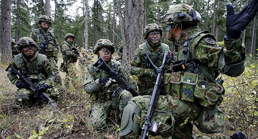 JGSDF soldiers from the 22nd Infantry Regiment