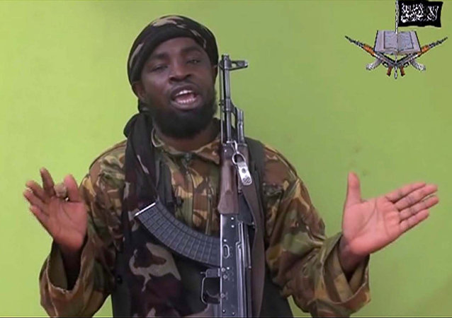 May 12, 2014 file photo taken from video by Nigeria's Boko Haram terrorist network, and shows their leader Abubakar Shekau speaking to the camera
